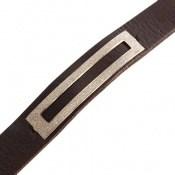دستبند نقره و چرم طرح زیبا