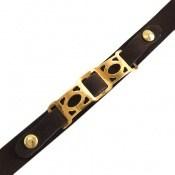 دستبند نقره و چرم طرح رویا