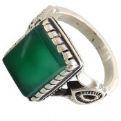 انگشتر عقیق سبز طرح بهرنگ مردانه