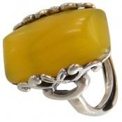 انگشتر عقیق زرد درشت فری سایز زنانه