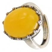 انگشتر عقیق زرد درشت فری سایز طرح نازگل زنانه