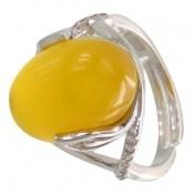 انگشتر عقیق زرد درشت فری سایز طرح گیتی زنانه