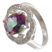 انگشتر توپاز هفت رنگ طرح شهرزاد زنانه
