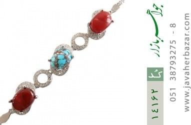 دستبند عقیق و فیروزه نیشابوری مجلسی زنانه