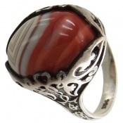 انگشتر عقیق ابروبادی خوش رنگ مردانه