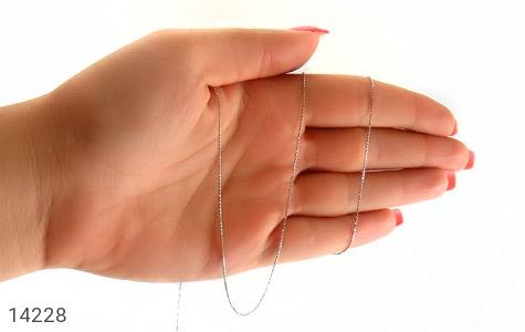 زنجیر نقره 55 سانتی طرح بافت - تصویر 4