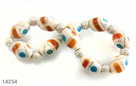 دستبند استخوان مرصع و زیبا زنانه - تصویر 6