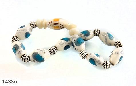 دستبند استخوان مرصع و خوش طرح زنانه - تصویر 2