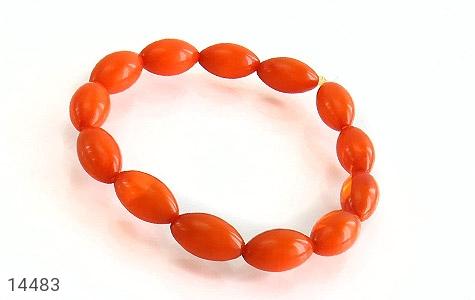 دستبند پودر کهربا زنانه - عکس 1