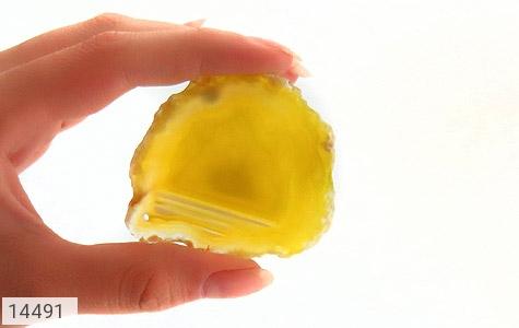 نگین تک عقیق زرد درشت راف - عکس 5