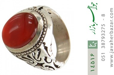 انگشتر عقیق یمن رکاب دست ساز - کد 14516