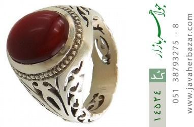 انگشتر عقیق یمن رکاب دست ساز - کد 14524