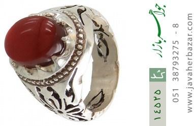 انگشتر عقیق یمن رکاب دست ساز - کد 14525