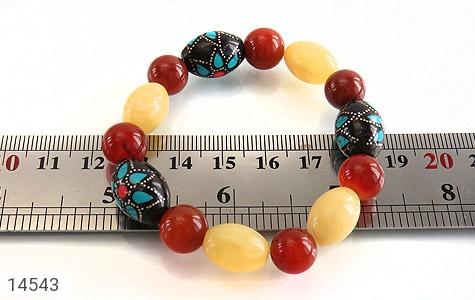 دستبند عقیق و یسر جذاب خوش رنگ زنانه - تصویر 4