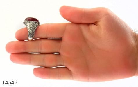 انگشتر عقیق یمن لوکس رکاب دست ساز - تصویر 8