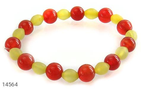 دستبند شاه مقصود و عقیق خوش رنگ زنانه - عکس 1