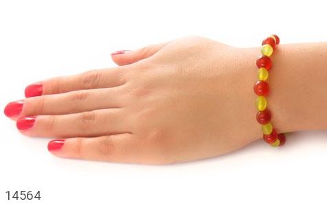 دستبند شاه مقصود و عقیق خوش رنگ زنانه - تصویر 6