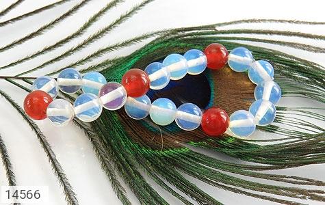دستبند عقیق سفید و قرمز زنانه - عکس 3