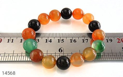 دستبند عقیق درشت خوش رنگ زنانه - تصویر 4