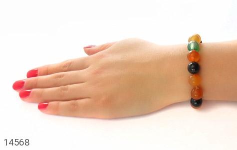 دستبند عقیق درشت خوش رنگ زنانه - عکس 5