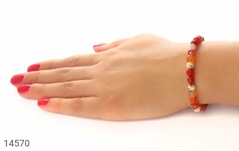 دستبند عقیق رنگبندی جذاب زنانه - عکس 5