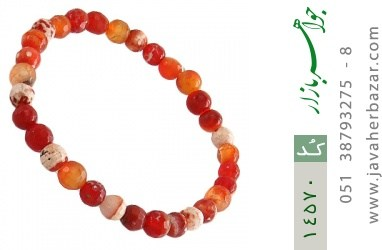 دستبند عقیق رنگبندی جذاب زنانه - کد 14570