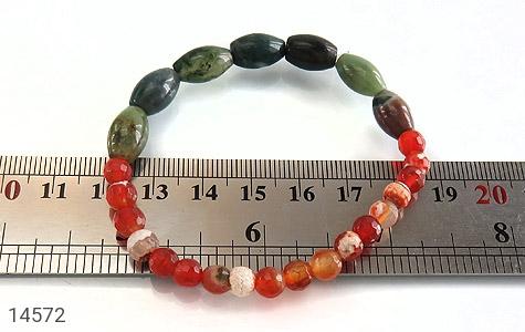دستبند عقیق و جاسپر خوش رنگ زنانه - تصویر 4