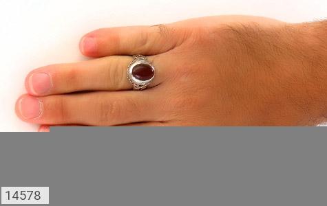 انگشتر عقیق سرخ طرح شهنام مردانه - عکس 7