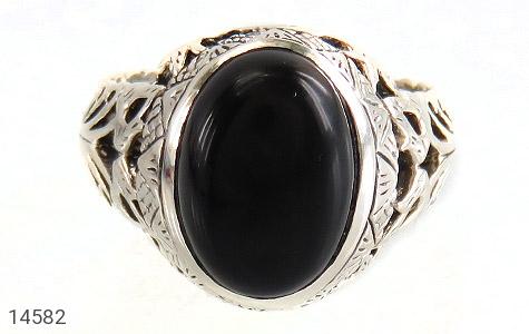 انگشتر عقیق سیاه طرح شهنام مردانه - تصویر 2