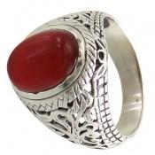انگشتر عقیق قرمز خوش رنگ مردانه