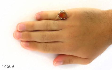 انگشتر عقیق یمن حکاکی شرف الشمس - عکس 7
