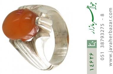 انگشتر عقیق یمن حکاکی شرف الشمس رکاب دست ساز - کد 14626