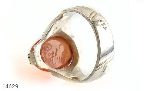انگشتر عقیق یمن حکاکی شرف الشمس رکاب دست ساز - تصویر 4