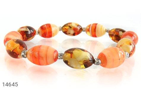 دستبند کهربا پودری زیبا زنانه - تصویر 2