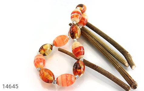 دستبند کهربا پودری زیبا زنانه - تصویر 4