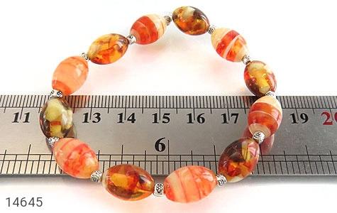 دستبند کهربا پودری زیبا زنانه - عکس 5
