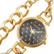 ساعت کلوین تایم Kelvin Time طلائی بند زنجیری یکطرفه زنانه