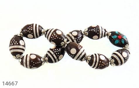 دستبند کوک (کشکول) مرصع و خوش رنگ زنانه - تصویر 6