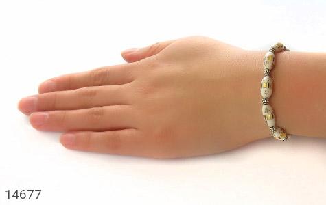 دستبند استخوان مرصع و جذاب زنانه - عکس 5