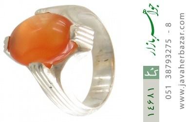 انگشتر عقیق یمن حکاکی شرف الشمس رکاب دست ساز - کد 14681