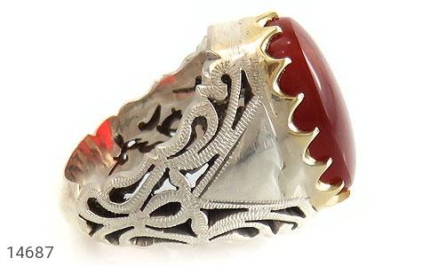 انگشتر عقیق یمن رکاب دست ساز - عکس 3