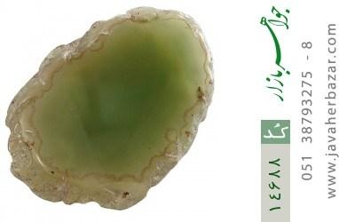 نگین تک عقیق درشت سبز راف - کد 14688