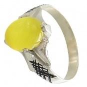 انگشتر عقیق زرد شرف الشمس بچه گانه