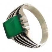 انگشتر عقیق سبز طرح رحمان مردانه