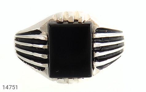 انگشتر عقیق سیاه طرح رحمان مردانه - تصویر 2