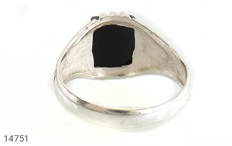 انگشتر عقیق سیاه طرح رحمان مردانه - تصویر 4