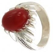 انگشتر عقیق قرمز طرح حافظ مردانه