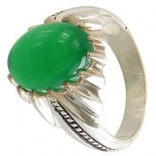 انگشتر عقیق سبز طرح حافظ مردانه