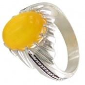 انگشتر عقیق زرد شرف الشمس طرح حافظ مردانه
