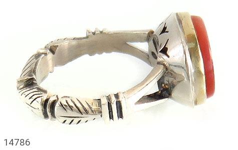 انگشتر عقیق یمن حکاکی و من یتق الله استاد احمد رکاب دست ساز - عکس 3
